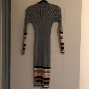 Allison Brittney Ribbed Sweater Dress